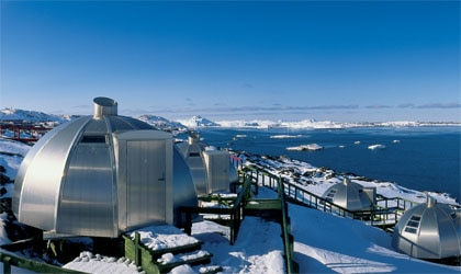 Igloos at Hotel Arctic in Greenland