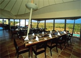 The dining tent at Longitude 131 in Australia