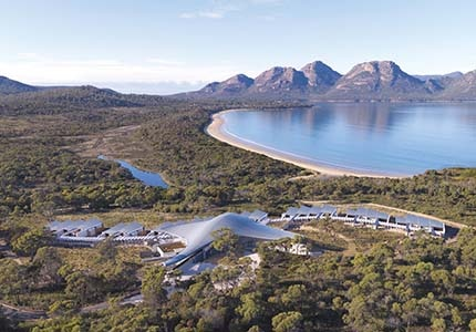 Saffire Freycinet in Coles Bay, Tasmania, one of GAYOT's Top 10 Remote Hotels Worldwide