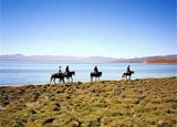 Horseback riding around Song Kul Lake in Kyrgyzstan
