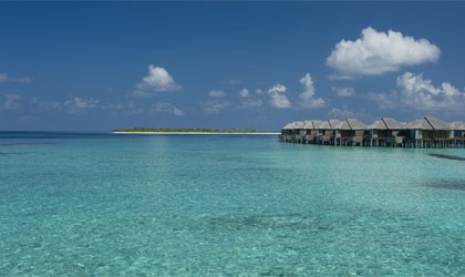 The water villas at Beach House Iruveli
