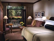 A guest room at Vail Cascade Resort & Spa in Vail, Colorado