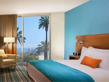 Enjoy contemporary Southern California style and business amenities at the LEED-registered Shore Hotel in Santa Monica