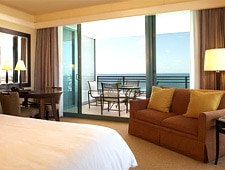 A guest room at Diplomat Resort & Spa Hollywood, Curio Collection by Hilton in Hollywood, Florida