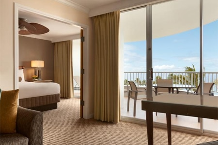 A guest room at The Fairmont Kea Lani, Maui in Wailea, Hawaii