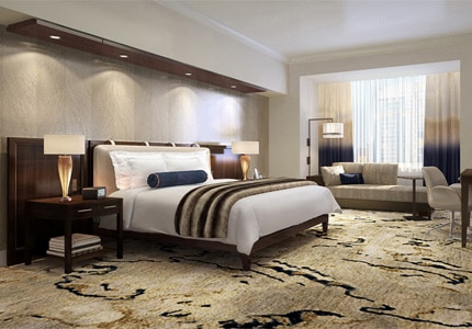 A guest room at The Ritz-Carlton, Denver, one of GAYOT's Top 10 Hotels in Denver, Colorado