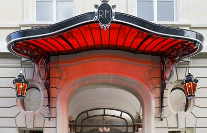 The renovated entrance of Le Royal Monceau - Raffles Paris
