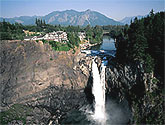 The waterfall at Salish Lodge and Spa