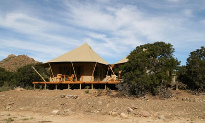 Luxe room at Dwyka Tented Camp at Sanbona Wildlife Reserve in South Africa