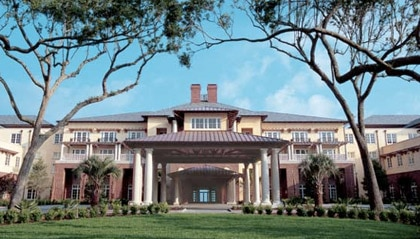 The entrance to The Sanctuary at Kiawah Island Golf Resort