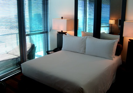 A guest room at The Setai, one of GAYOT's Top 10 Hotels in Miami/South Florida