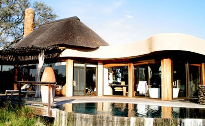 A typical suite at Singita Boulders Lodge in Sabi Sand region of South Africa
