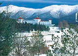 Mount Washington Hotel, nestled in the historic Bretton Woods, provides a sense of old-America elegance