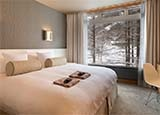 A guest room at The Green Leaf in Niseko Village, Japan