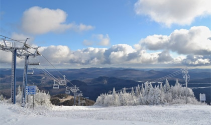 Skiing at Mont Tremblant in Quebec, Canada