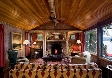 Lake Placid Lodge offers a rustic-luxe feel with amazing views