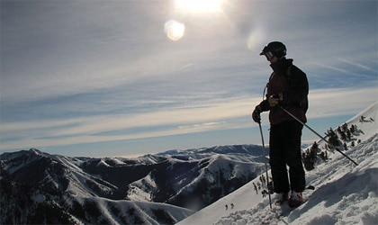 Helicopter skiing at Sun Valley Resort in Idaho