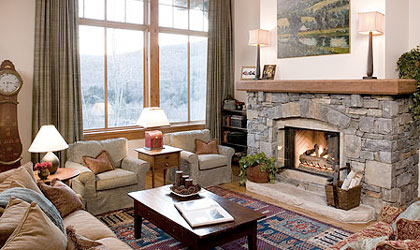 A room at Stowe Mountain Lodge in Vermont