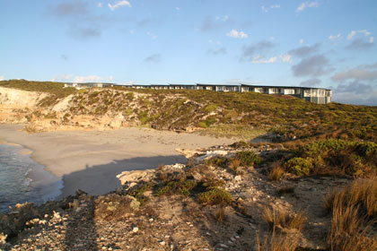 Southern Ocean Lodge, perched atop on a beachside cliff
