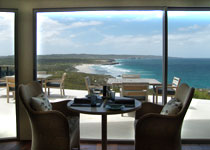 Ocean-view dining at Southern Ocean Lodge in Australia