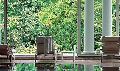 The pool at Brenner's park Hotel in Baden-Baden, Germany