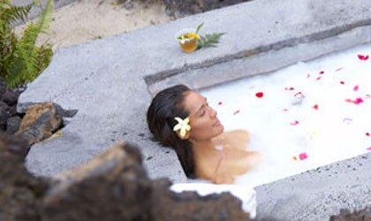 Enjoy a relaxing soak at the spa at Mauna Lani Resort in Hawaii