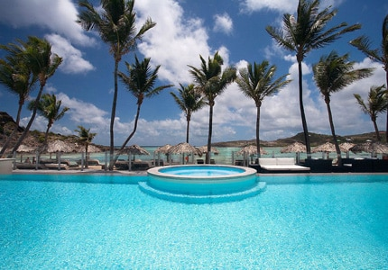Hotel Guanahani & Spa in St. Barths, one of GAYOT's Top 10 Spa Hotels Worldwide