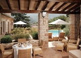 A private terrace off one of the suites at La Residencia
