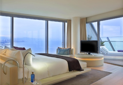 The W Barcelona, one of GAYOT's Top 10 Romantic Hotels in Spain