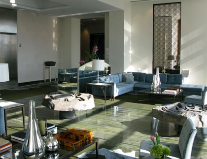 The modern and airy lobby at The St. Regis Mexico City