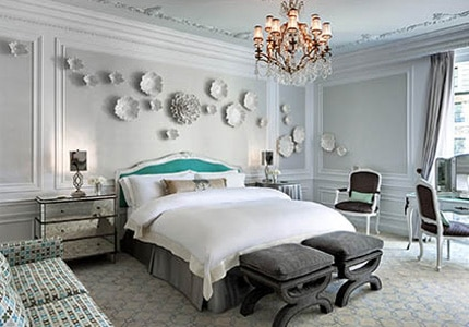 A guest room at The St. Regis New York in New York, New York