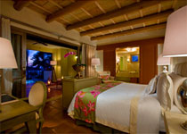 The bedroom in the Presidential Suite at The St. Regis Punta Mita Resort