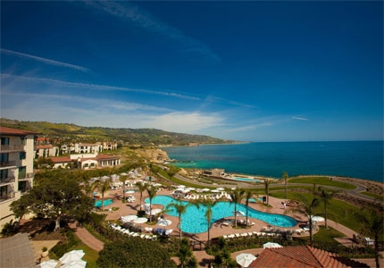 An aerial view of the Terranea Resort property