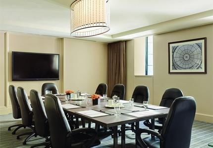 Hold conferences at the Grant Room at The Langham, Boston, one of GAYOT's Top 10 Business Hotels in Boston, MA