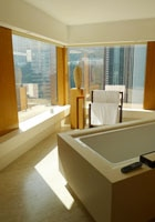 A bathroom at The Upper House in Hong Kong