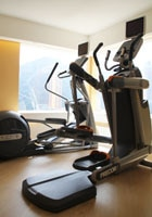 The fitness room at The Upper House in Hong Kong