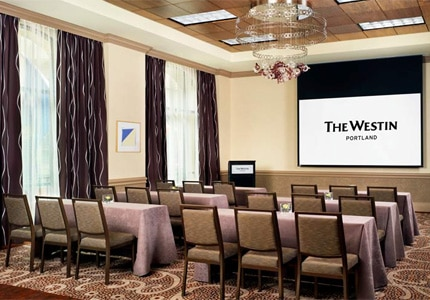 The Alder meeting room at The Westin Portland, one of GAYOT's Top 10 Business Hotels in Portland