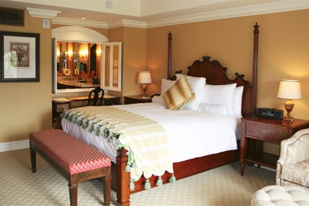 A guest room at The Grand Del Mar, one of GAYOT'S top-rated hotels in San Diego, CA