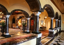 The ornate lobby of The Grand Del Mar