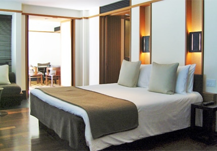 A guest room at The Setai, one of GAYOT'S top-rated hotels in Miami/South Florida