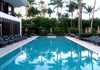 The outdoor pool at The Setai hotel in Miami Beach, Florida