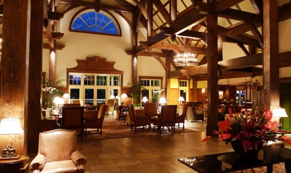 The lobby of The Ritz-Carlton Lodge, Reynolds Plantation
