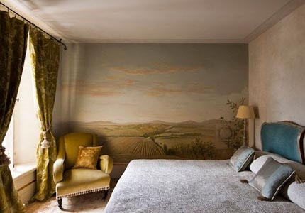 A guest room at Borgo Santo Pietro in Tuscany, Italy