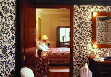 A guest room at Hotel Certosa de Maggiano in Italy