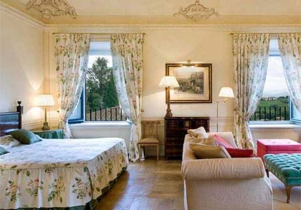 A guest room at Villa Le Rose in Tuscany, Italy