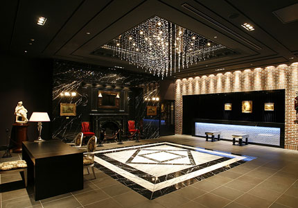The lobby of Hotel Monterey Kyoto, one of GAYOT's Top 10 Value Hotels Worldwide