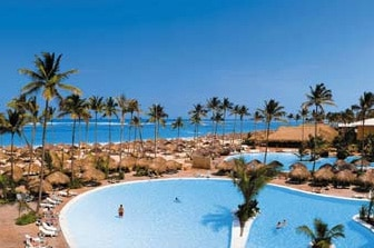 Swimming pools at the Iberostar Dominicana Hotel in Punta Cana, Dominican Republic
