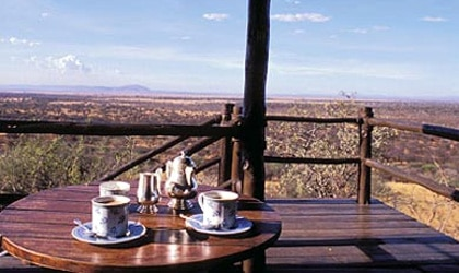 View from Kirawira Camp at the Serengeti National Park in Tanzania, Africa