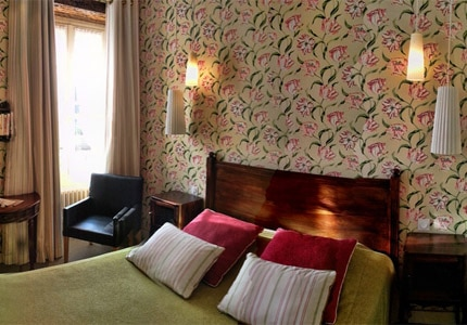 A guest room at Hotel Diderot in Chinon, Loire Valley, France