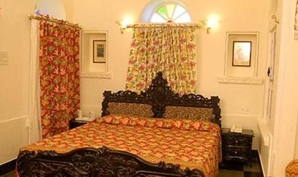 A room at Jagat Niwas Palace in Udaipur, Rajasthan in India